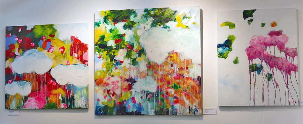 Abstract paintings by Caroline Hulse